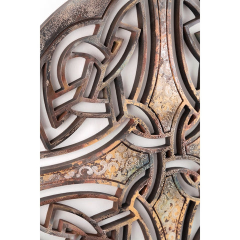 Wall Decoration (Celtic pattern 2) - Decorative sculpture - RzezbawDrewnie.pl - Viktor-Art