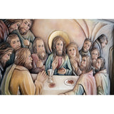 Last Supper - Folk style - Polychrome-Sacred sculpture-RzezbawDrewnie.pl-Viktor-Art