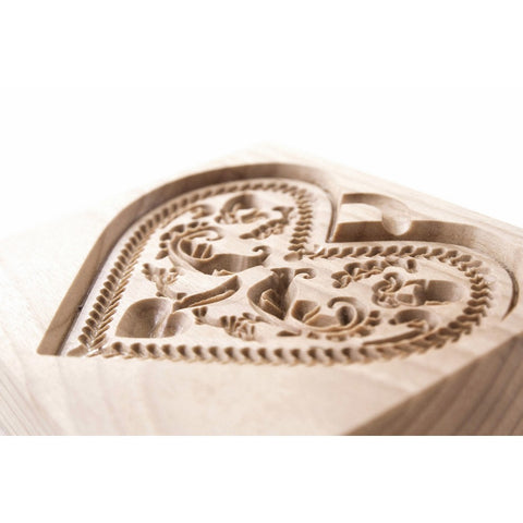 Gingerbread Mold - Cookie Cutter (Heart 1) - Cookie Cutters-RzezbawDrewnie.pl-Viktor-Art