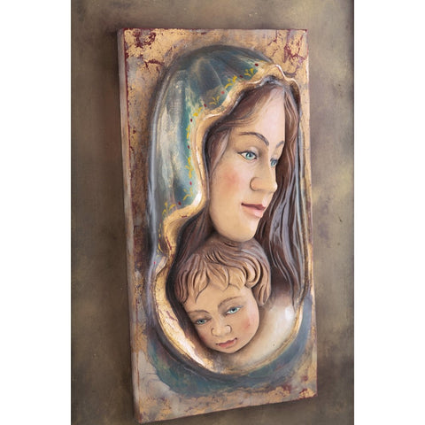Mother Mary with child Jesus (Model 2) - Sacred sculpture - RzezbawDrewnie.pl - Viktor-Art