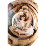 Holy Family - Heart and Home - Vortex - Spiral (model 5) - Golden leaf-Sacred sculpture-RzezbawDrewnie.pl-Viktor-Art