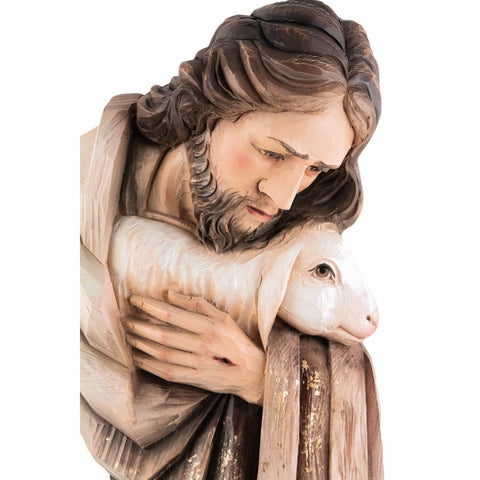 Good Shepherd (model 1) - Sacred sculpture - RzezbawDrewnie.pl - Viktor-Art