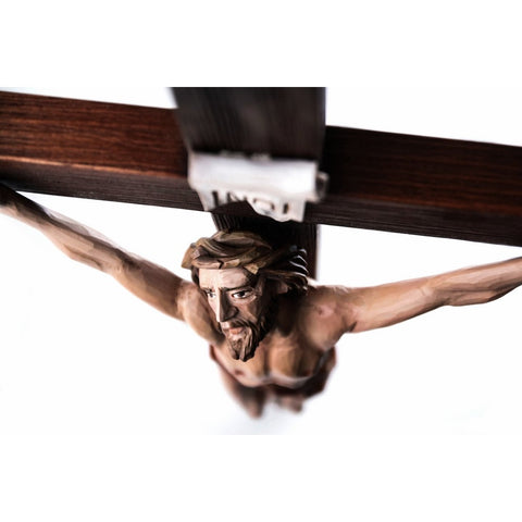 Crucifix - Jesus Christ Crucified-Sacred Sculpture-RzezbawDrewnie.pl-Viktor-Art