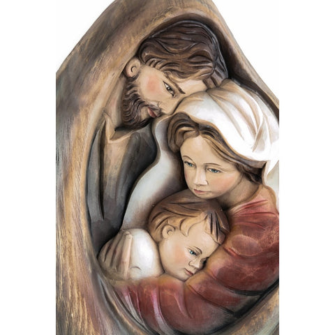 Holy Family - Heart and home - Drop of Love (model 7) - Sacred sculpture - RzezbawDrewnie.pl - Viktor-Art