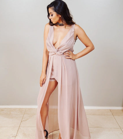 That's Taupe Maxi Dress