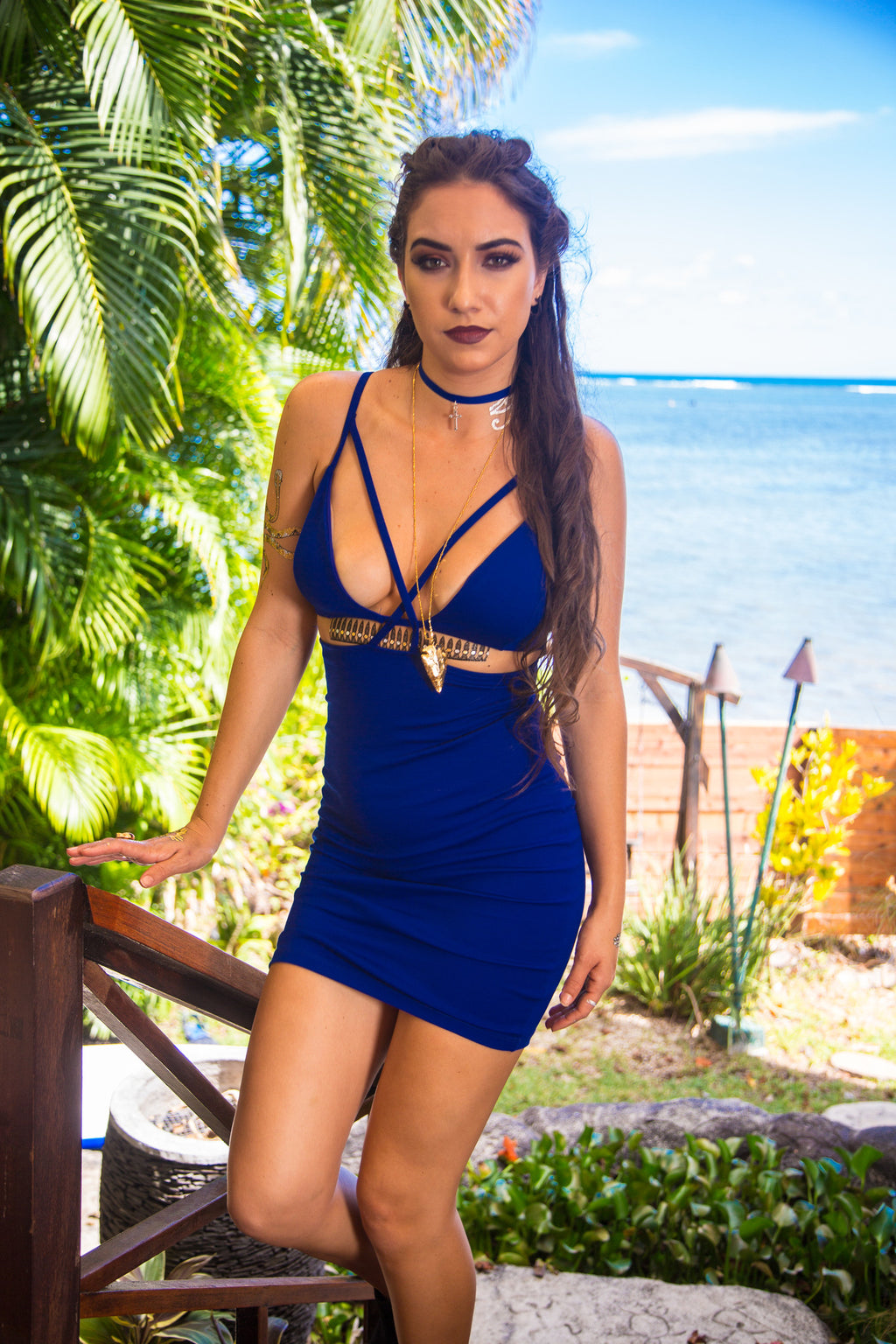 Royal Bitch Bodycon Dress