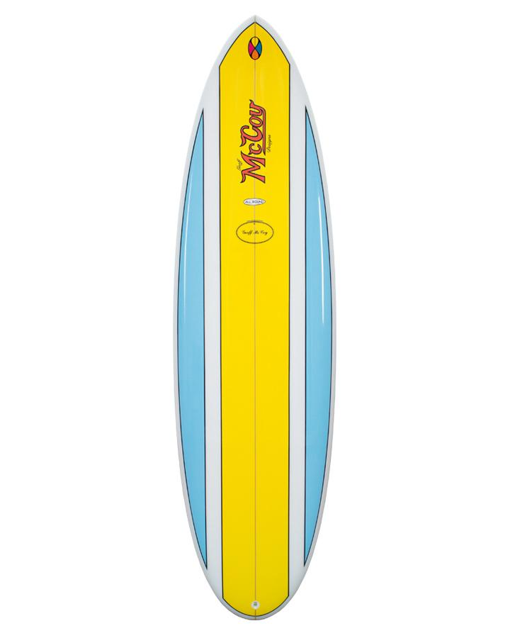 McCoy Nugget Blue/Yellow Polish FCSII Epoxy Surfboard