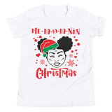 Melanin Christmas Youth T-Shirt