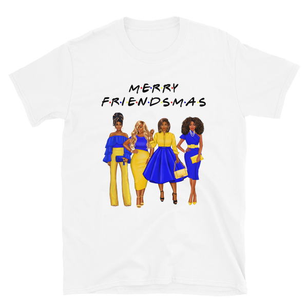 Friendsmas Blue and Gold T-Shirt