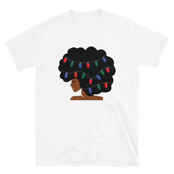 Christmas Afro Short-Sleeve T-Shirt