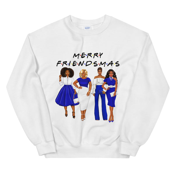 Friendsmas Blue Sweatshirt