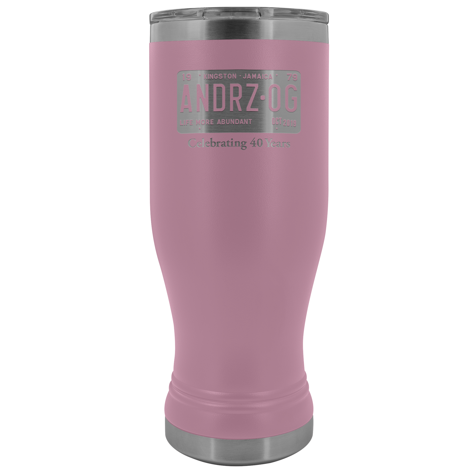 Andrz OG 2019 Reunion Laser-Etched BOHO Tumbler for Hot & Cold Beverages
