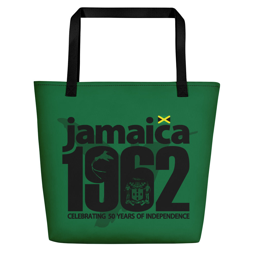 Jamaica 1962 - Green & Black Beach Bag