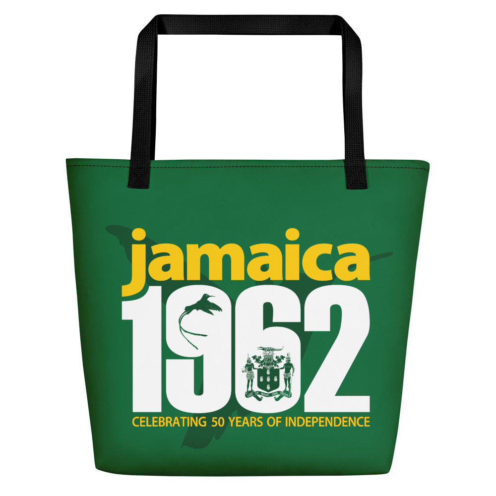 Jamaica 1962 - Green, Yellow & White Beach Bag