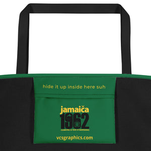 Jamaica 1962 - Green, Yellow & Black Beach Bag