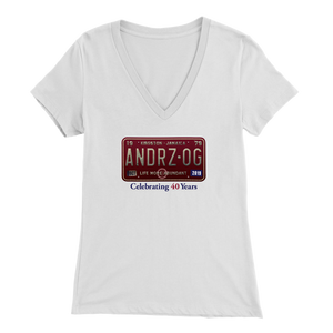 Andrz OG 2019 Reunion Short-Sleeve Bella Womens V-Neck T-Shirt