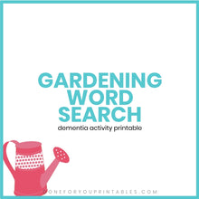 Load image into Gallery viewer, Gardening Word Search