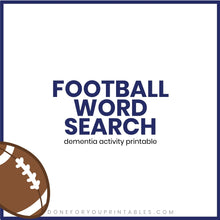 Load image into Gallery viewer, Football Word Search
