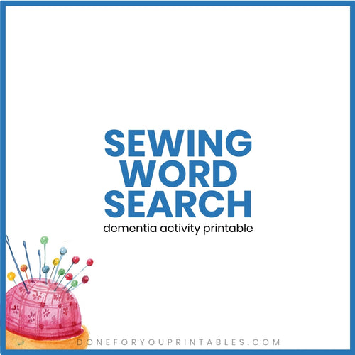 Sewing Word Search