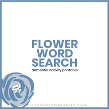 Load image into Gallery viewer, Flower Word Search