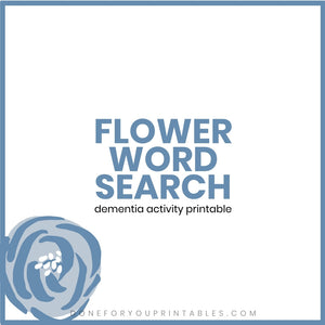 Flower Word Search