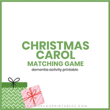 Load image into Gallery viewer, Christmas Carol Matching Game