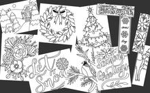 Load image into Gallery viewer, Holiday and Winter Coloring Bundle (Includes both the Holiday and Winter Packs)