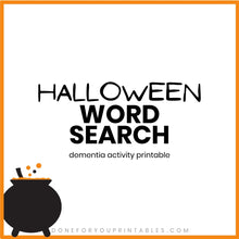 Load image into Gallery viewer, Halloween Word Search