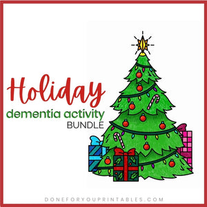 Holiday Dementia Activity Bundle