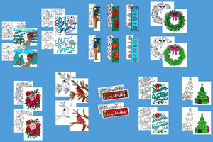 Holiday and Winter Coloring Bundle (Includes both the Holiday and Winter Packs)