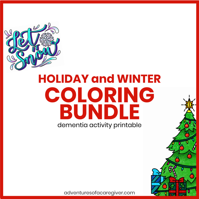 Holiday and Winter Coloring Bundle