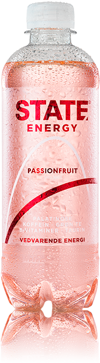 STATE Energy drink - Passionfruit  (1,5 kr. pant inkl.) 400 ml.