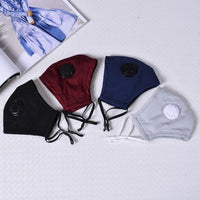 4PCS Breathing Valve Mask with 10 pcs Filter Paper(4 Colors)