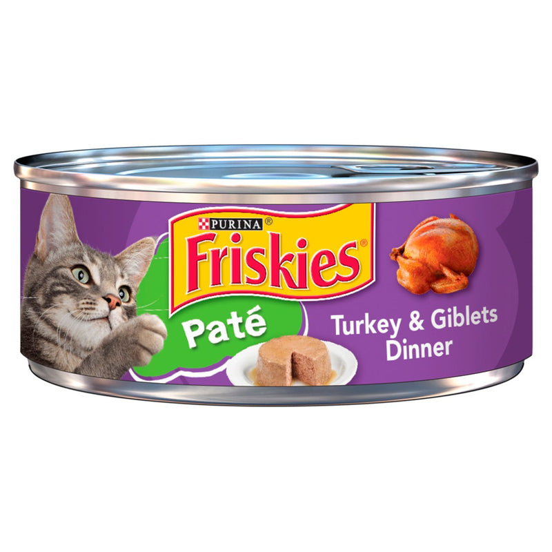 Purina Friskies Pate Turkey & Giblets Dinner Wet Cat Food - 5.5 oz Can