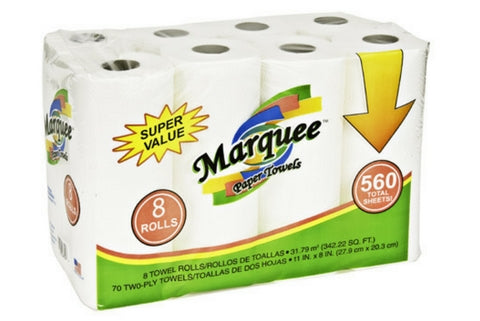Marquee 8Roll 70ct 2Ply Paper Towel(84PC