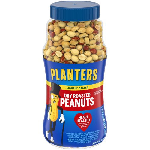 Planters Peanuts, Dry Roasted, Lightly Salted, 16 Ounce