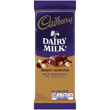 Cadbury Dairy Milk Roast Almond Milk Chocolate Bar 3.50 oz