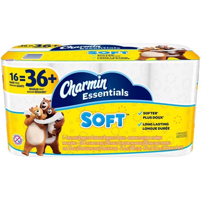Charmin Essentials Soft Toilet Paper Giant Rolls - 16 ct