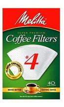 Melitta Cone Coffee Filters, Natural Brown, No. 4, 100-Count