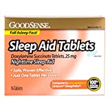 Good Sense Sleep Aid Doxylamine Succinate tablets, 25mg, 16-count