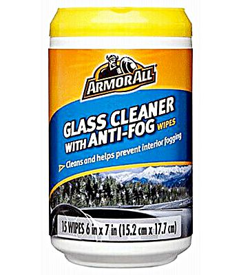Armor All Glass Wipes With Anti-fog 15ct