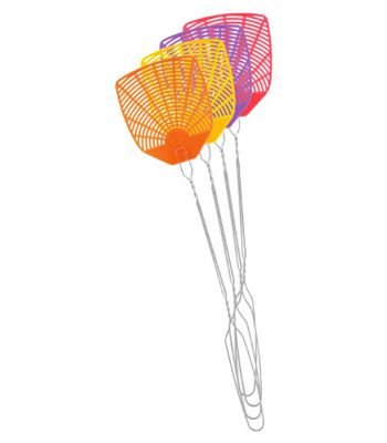 PIC WIRE Plas Fly Swatter ASSTD (Case Of 24)