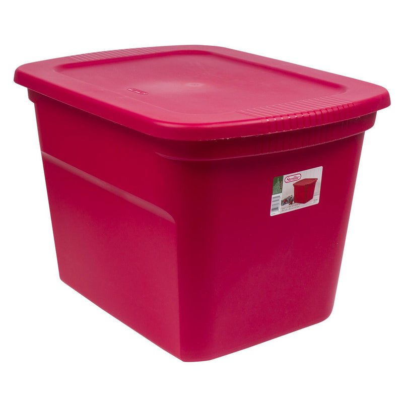 Sterilite Red Holiday Storage Tote 18Gal