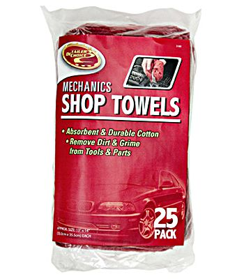 Tiger Accessory Group 3-5428 Red Shop Towel 25 Pack