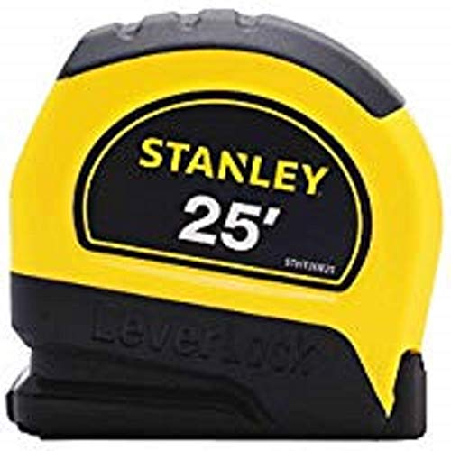 "Stanley STHT30825 LeverLock Tape Rules, 1"" x 25', Yellow"