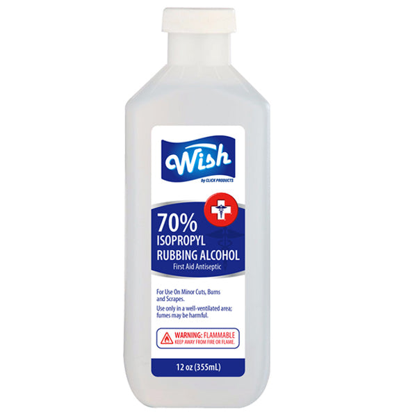 Wish Rubbing Alcohol 12 oz 70%
