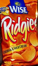 WISE POTATO CHIPS RIDGIES CHEDDAR & SOUR CREAM 4.5 OZ BAG