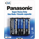 Panasonic Super Heavy Duty AA Batteries 4pk