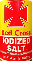Red Cross Iodized Salt This Salt Supplies Iodide 26 Oz.