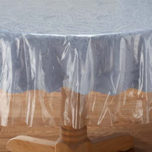"Classic Touch Crystal Clear Tablecloth Cover - Vinyl Table Protector (70"" Round)"